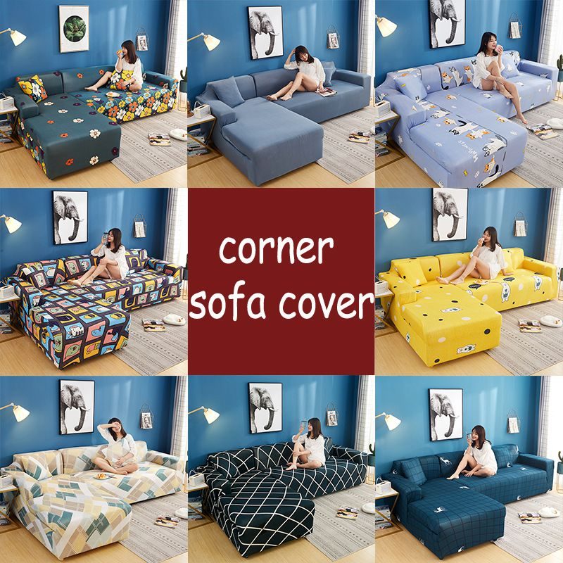 Fine Details About L Shape Couch Cover Stretch Elastic Fabric Sofa Cover Pet Sectional Corner Uk Camellatalisay Diy Chair Ideas Camellatalisaycom