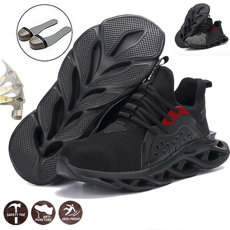 Details about  /Men/'s Net Safety Shoes S3 Steel Toe Cap ESD Work Boots Indestructible Sneakers
