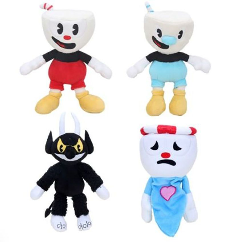 Cuphead /& Mugman Plush Kids Toy Mecup And Brocup Stuffed Game Doll Red US Sell
