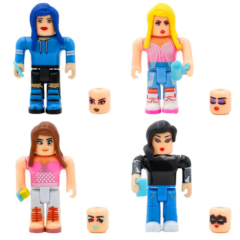 Roblox Game Girl Character Accessory 4pcs Action Figure Cake