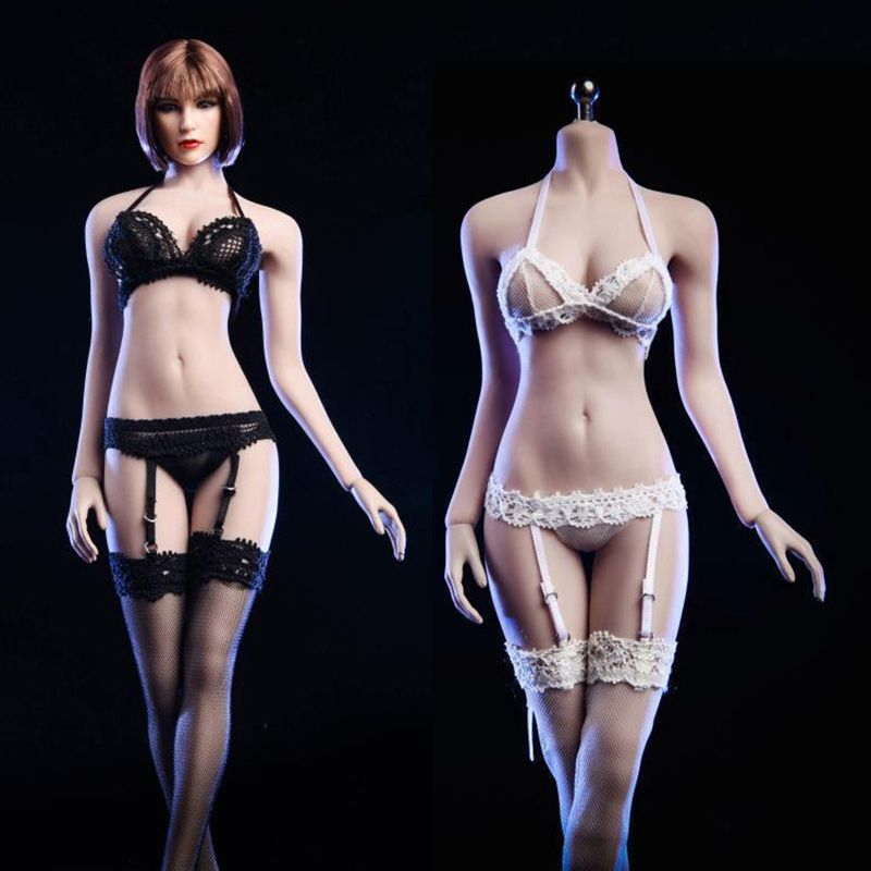 1//6 Lace Corset Lingerie Gartering Stockings Set For Phicen Female Figure ❶USA❶