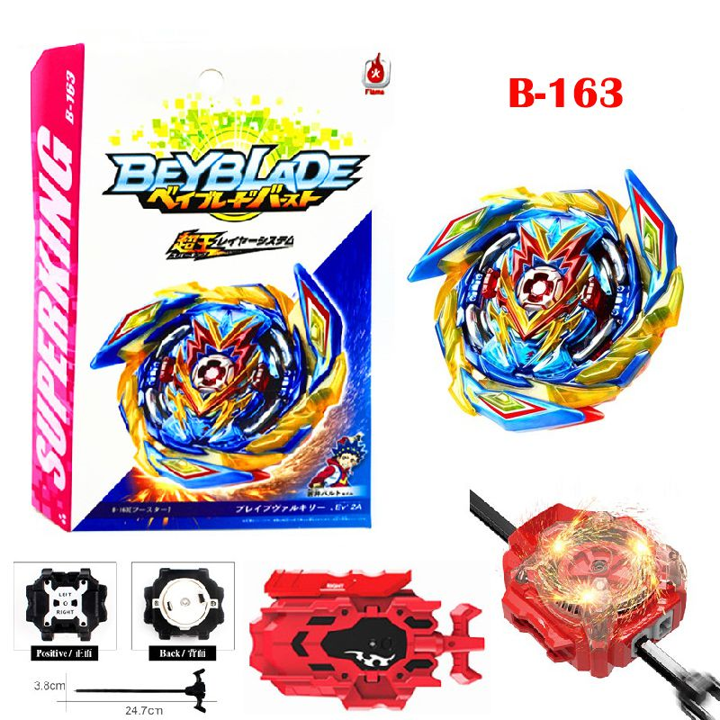 Beyb ade Burst Super King B-163 Booster Brave Valkyrie .Ev 2A Beyb ades Stater Set High Performance Battling Tops Include Two-Way Launcher