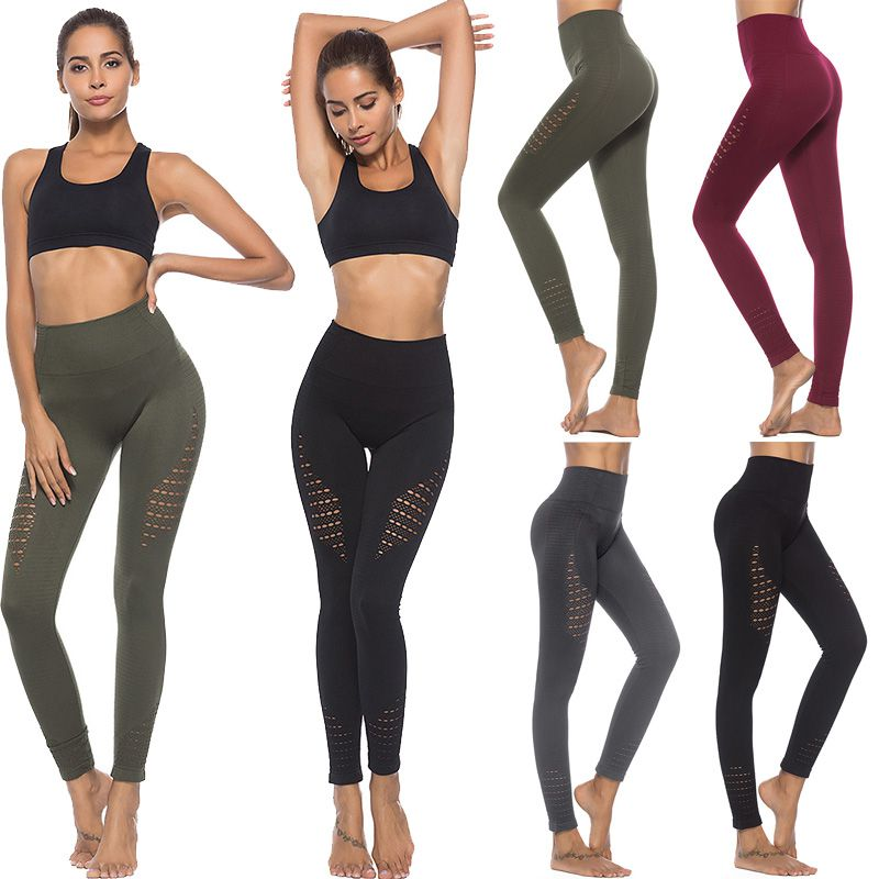 Women Seamless Yoga Pants Fitness Leggings Running Gym Stretch Sports Trousers